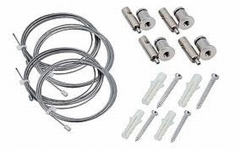 Suspension kit for Led Panels   Adjustable max. 150cm
